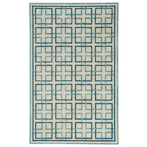 Square Trellis Cream - Rectangle - 5' x 8'