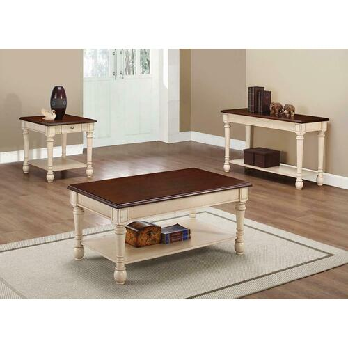 Product Image - Transitional Dark Brown/antique White Coffee Table