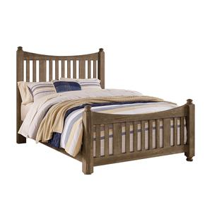 Slat Poster Bed with Slat Poster Footboard
