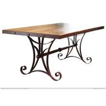 "79"" Dining Table w/Iron Base - KD System"