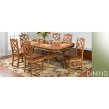 Sedona Dual Height Ext. Dining Table and 4 Chairs