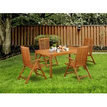 This 5 Pc Acacia Outdoor-Furniture Sets provides you an Outdoor-Furniture table and four foldable Outdoor-Furniture chairs