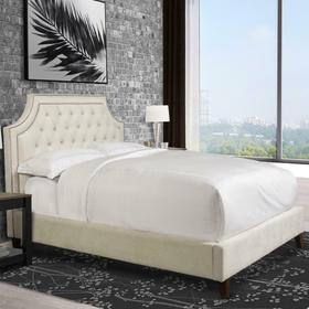 JASMINE - CHAMPAGNE Upholstered Bed Collection (Natural)