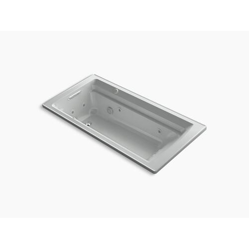 "Ice Grey 72"" X 36"" Drop-in Whirlpool + Heated Bubblemassage Air Bath"