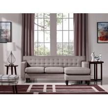 Divani Casa Tawny Modern Fabric Sofa & Ottoman Set