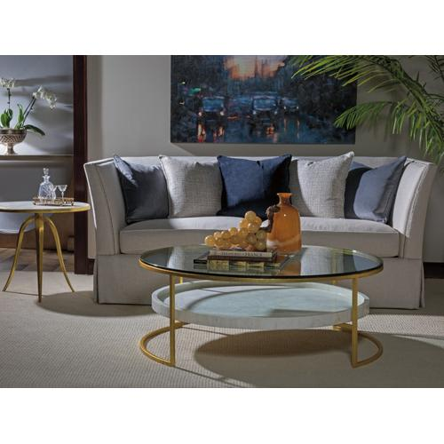 Crystal Stone Round End Table