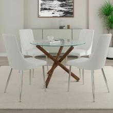 See Details - Rocca/Devo 5pc Dining Set, Walnut/White