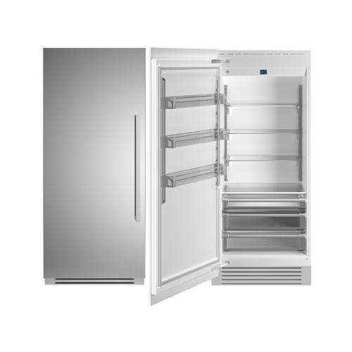 "36"" Built-in Refrigerator column - Stainless - Left hinge"