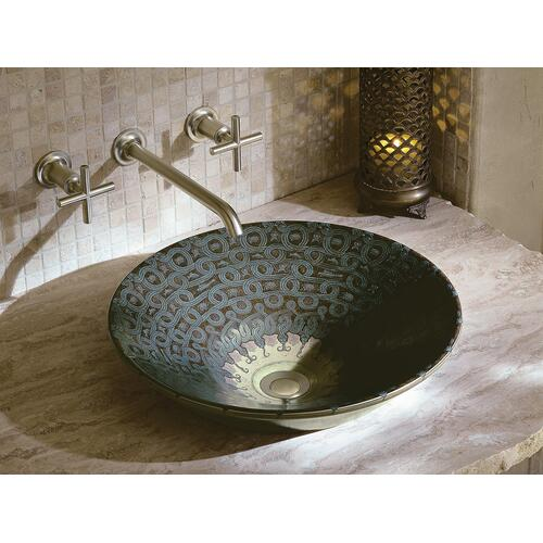Serpentine Bronze Vessel Bathroom Sink