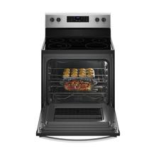 See Details - 5.3 cu. ft. Freestanding Electric Range with 5 Elements Black-on-Stainless