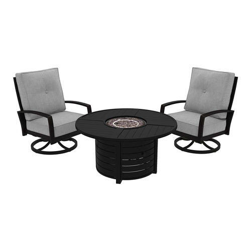 Castle Island 5 Piece Patio Set Dark Brown
