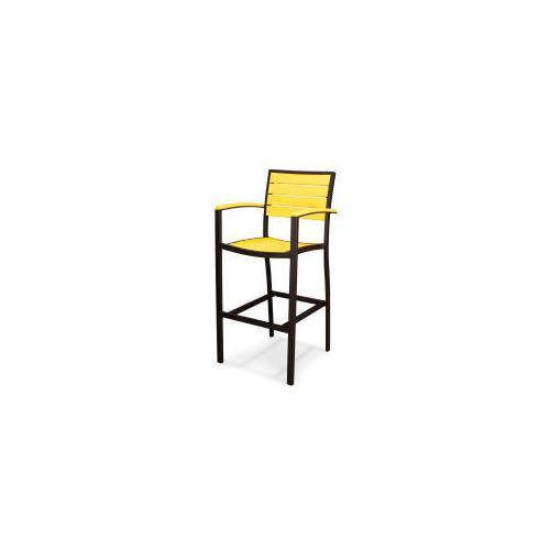 Polywood Furnishings - Eurou2122 Bar Arm Chair in Textured Bronze / Lemon