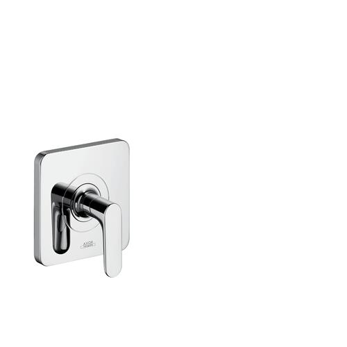Polished Black Chrome Shut-off valve for concealed installation with lever handle