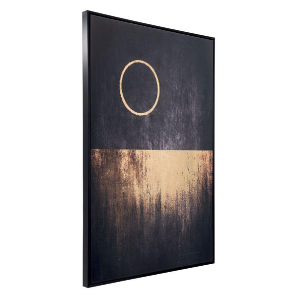 See Details - Full Moon Rises Canvas Black & Gold