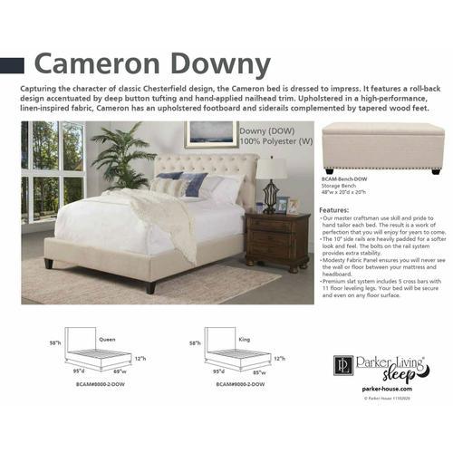 CAMERON - DOWNY Storage Bench