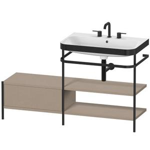 Furniture Washbasin C-bonded With Metal Console Floorstanding, Linen (decor)