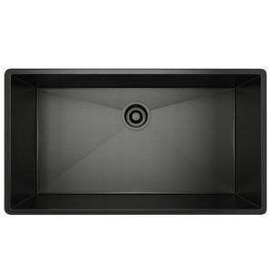 Black Stainless Steel Forze Single Bowl Stainless Steel Kitchen Sink Product Image