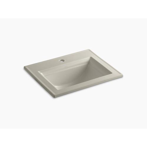 Sandbar Drop-in Bathroom Sink With Single Faucet Hole