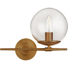 AERIN Turenne 1 Light 13 inch Hand-Rubbed Antique Brass Sconce Wall Light, Small