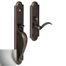 View Product - Satin Nickel with Lifetime Finish Boulder Full Escutcheon Trim