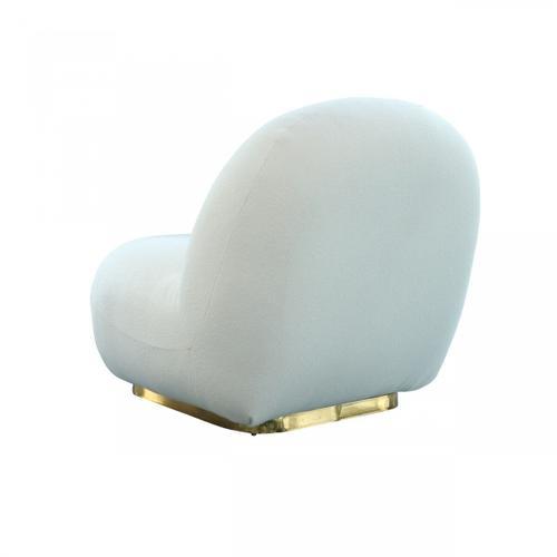 Gallery - Modrest Crestone - Modern White Sherpa Accent Chair