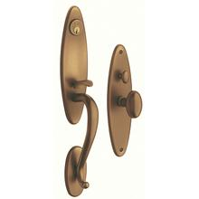 View Product - Satin Brass and Brown Springfield Entrance Trim