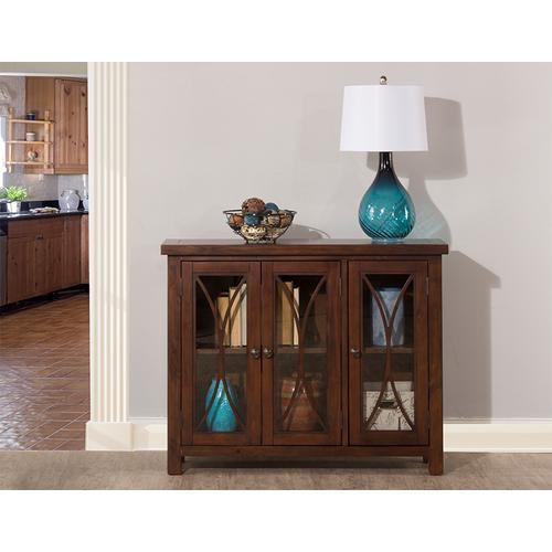 Hillsdale Furniture - Bayside 3 Door Cabinet - Rustic Mahogany