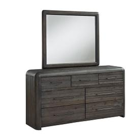 Dresser \u0026 Mirror - Distressed Java Finish