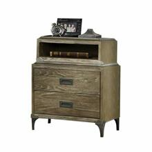 ACME Athouman Nightstand (USB Charging Dock) - 23923 - Weathered Oak