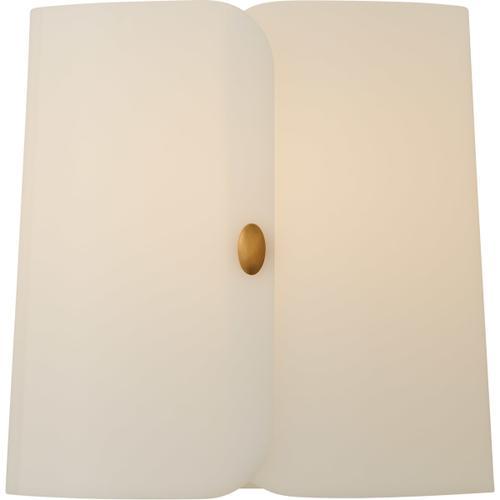 Barbara Barry Dapper LED 10 inch Soft Brass Sconce Wall Light, Small