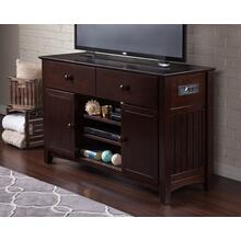 See Details - Nantucket 2 Drawer 50 inch Entertainment Console 30x50 with Adjustable Shelves and Charging Station in Espresso