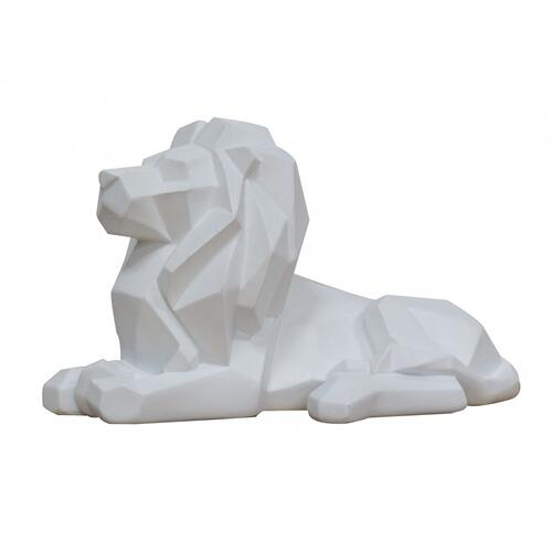 Gallery - Modrest Lion - White Geometric Sculpture