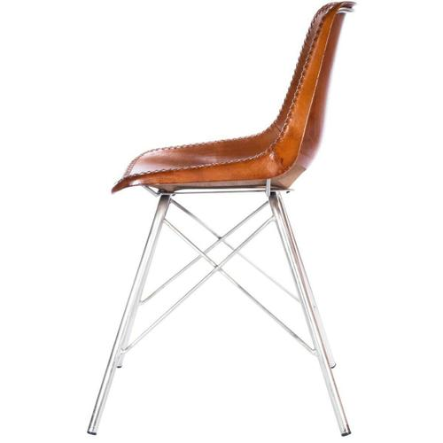 Butler Specialty Company - Mid-century modern with a contemporary twist: this go-everywhere molded chair form gets an upgrade with a stitched leather cover and sturdy silver iron frame. Think home office, dining room or dorm!