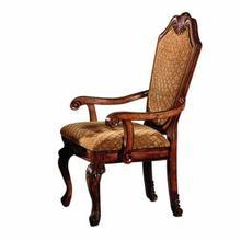 ACME Chateau De Ville Arm Chair (Set-2) - 04078 - Fabric & Cherry