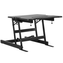 "22""W Black Sit / Stand Height Adjustable Desk with Height Lock Feature"