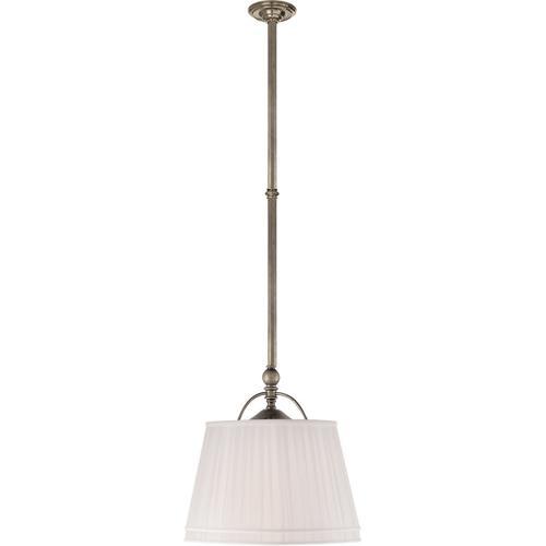- E. F. Chapman Sloane 2 Light 16 inch Antique Nickel Hanging Shade Ceiling Light in Linen
