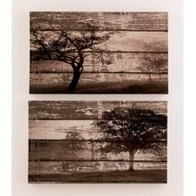 Timber and Tanning Wall Art Set (2/CN)