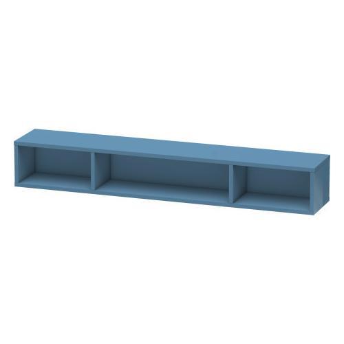 Shelf Element (horizontal), Stone Blue High Gloss (lacquer)