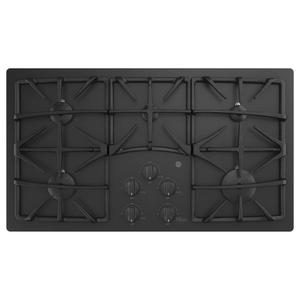 "GE®36"" Built-In Gas on Glass Cooktop with 5 Burners and Dishwasher Safe Grates"
