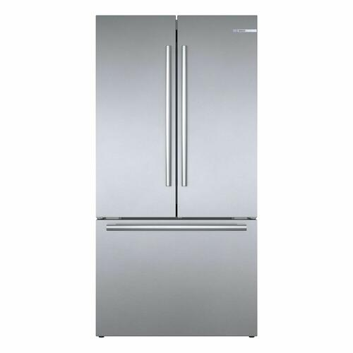 Bosch - 800 Series French Door Bottom Mount Refrigerator 36'' Easy clean stainless steel B36CT80SNS