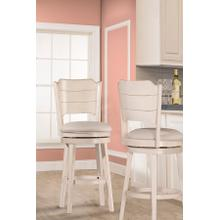 See Details - Clarion Swivel Counter Height Stool - Sea White
