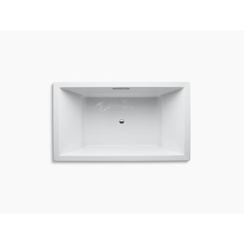 "Thunder Grey 72"" X 42"" Drop-in Bath With Center Drain"