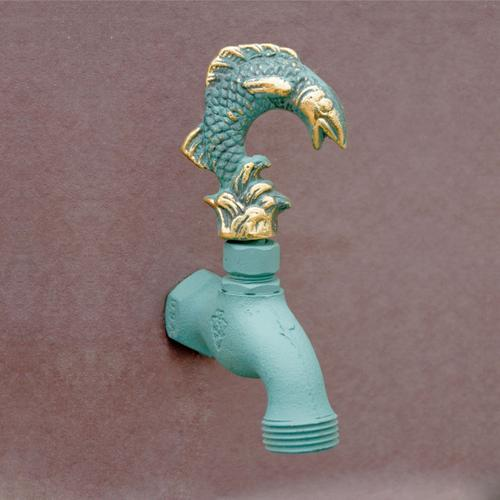 Stone Forest - Verdi French Country Hose Bibb Faucets Brass / Hummingbird In Flight