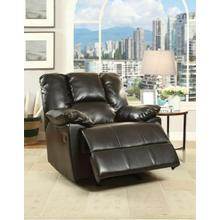ACME Oliver Glider Recliner - 59433 - Black Leather-Aire