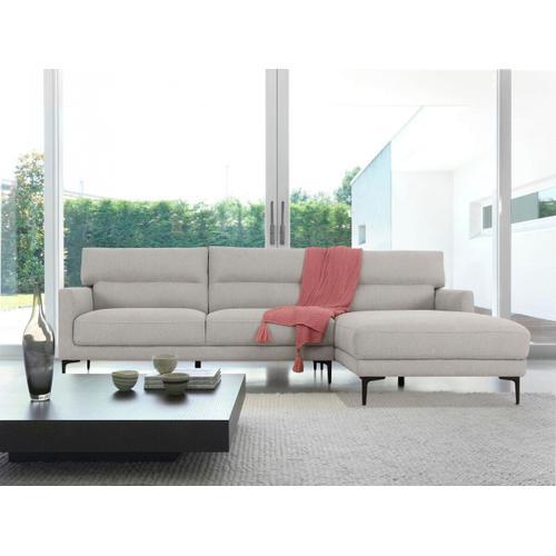 VIG Furniture - Divani Casa Paraiso - Modern Grey Fabric Right Facing Sectional Sofa