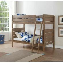 ACME Ranta Twin/Twin Bunk Bed - 37400 - Antique Oak