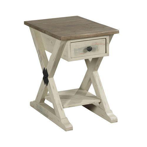La-Z-Boy - Reclamation Place Trestle Chairside Table