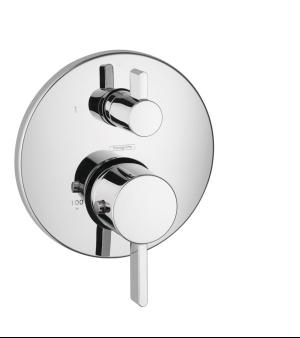 Chrome Thermostatic Trim S with Volume Control and Diverter Product Image