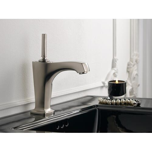 "Vibrant Brushed Bronze Single-hole Bathroom Sink Faucet With 5-3/8"" Spout and Lever Handle"