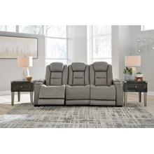 View Product - Power Leather Sofa with Adjustable Headrest, Lumbar, Reading Lights and Wireless Cell Phone Charging